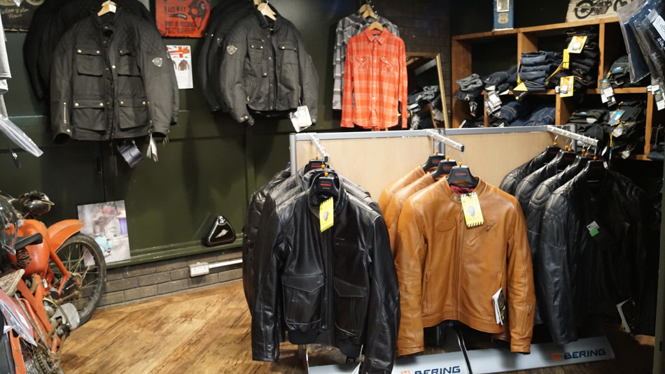 Biker Boutique selling jackets, trousers, etc. in Darlington