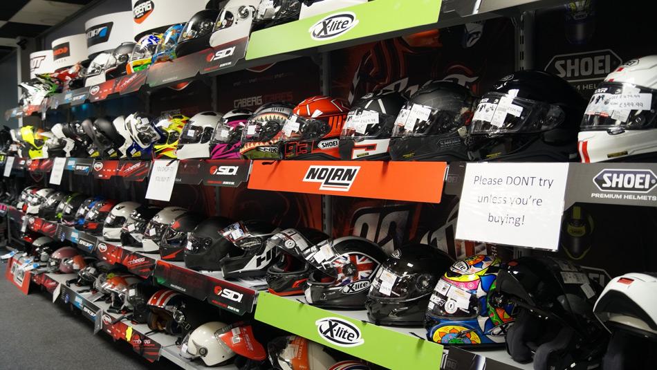 Biker Boutique selling helmets and more in Darlington