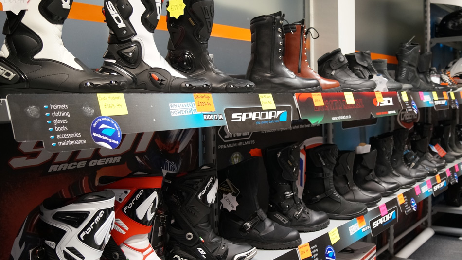 Biker Boutique selling boots and more in Darlington