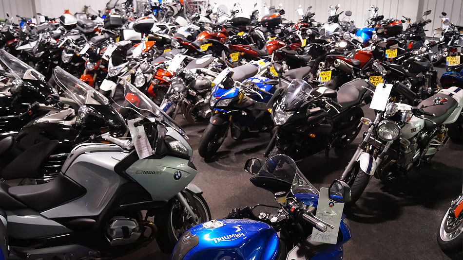 Our Bike Showroom in Darlington, over 100 bikes in stock